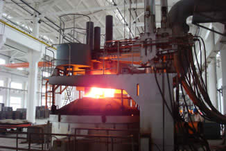 How is steel made in an electric arc furnace? electric arc furnace working